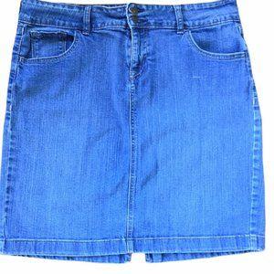 Old Navy Ultra Blue Sz 12  32 in Jean Denim Skirt